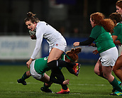 1st February 2019, Energia Park, Dublin, Ireland; Womens Six Nations rugby, Ireland versus England; Emily Scarratt (England) is tackled by Juliet Short (Ireland)