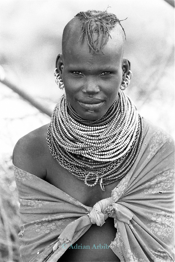 A Turkana woman<br /> <br /> Northern Kenya.