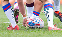 Picture by Allan McKenzie/SWpix.com - 08/04/2018 - Rugby League - Betfred Super League - Wakefield Trinity v Leeds Rhinos - The Mobile Rocket Stadium, Wakefield, England - Betfred, ball, branding.