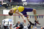 11 MAR 2011: Zach Mixdorf of Wisconsin Stevens Point high jumps during the the Division III Men's and Women's Indoor Track and Field Championships held at the Capital Center Fieldhouse on the Capital University campus in Columbus, OH.  Jay LaPrete/NCAA Photos