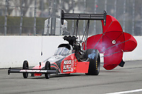 Feb 9, 2020; Pomona, CA, USA; NHRA top fuel driver Shawn Reed during the Winternationals at Auto Club Raceway at Pomona. Mandatory Credit: Mark J. Rebilas-USA TODAY Sports