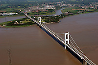 Aerial view of the M48 Severn Bridge