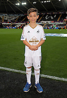 Child mascot before the Barclays Premier League match between Swansea City and Arsenal at the Liberty Stadium, Swansea on October 31st 2015