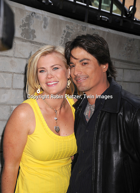 actress Alison Sweeney of Days of Our Lives and ..The Biggest Loser and Bryan Dattilo..at the Daytime Emmy Nominations on April 30, 2008 at the..ABC Studio in New York City.....Robin Platzer, Twin Images
