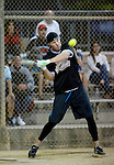 POWAY, CA - JULY 16:  Punter Mike Scifres of the San Diego Chargers at bat for his team the &quot;Valley Farm League&quot;  during their semi-final game in the Regular Joe League at the Poway Sportsplex Softball Field on July 16, 2014 in Poway, California. (CREDIT: Donald Miralle for the Wall Street Journal) <br /> chargers