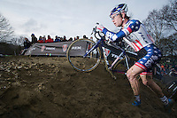 US Champion Jonathan Page on the muddy course<br /> <br /> GP Sven Nys 2014