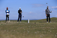 Waiting on the 10th tee during Round Two of the West of England Championship 2016, at Royal North Devon Golf Club, Westward Ho!, Devon  23/04/2016. Picture: Golffile | David Lloyd<br /> <br /> All photos usage must carry mandatory copyright credit (&copy; Golffile | David Lloyd)