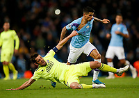 Arijan Ademi of Dinamo Zagreb grapples with Joao Cancelo of Manchester City during the UEFA Champions League Group C match between Manchester City and Dinamo Zagreb at the Etihad Stadium on October 1st 2019 in Manchester, England. (Photo by Daniel Chesterton/phcimages.com)<br /> Foto PHC/Insidefoto <br /> ITALY ONLY