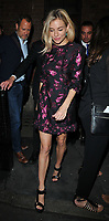 Sienna Miller at the &quot;Cat On A Hot Tin Roof&quot; theatre cast stage door departures, Apollo Theatre, Shaftesbury Avenue, London, England, UK, on Thursday 31 August 2017.<br /> CAP/CAN<br /> &copy;CAN/Capital Pictures /MediaPunch ***NORTH AND SOUTH AMERICAS ONLY***