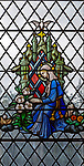 Stained glass window, possibly Saint Catherine of Siena, Saint Thomas church, Salisbury, Wiltshire, England,