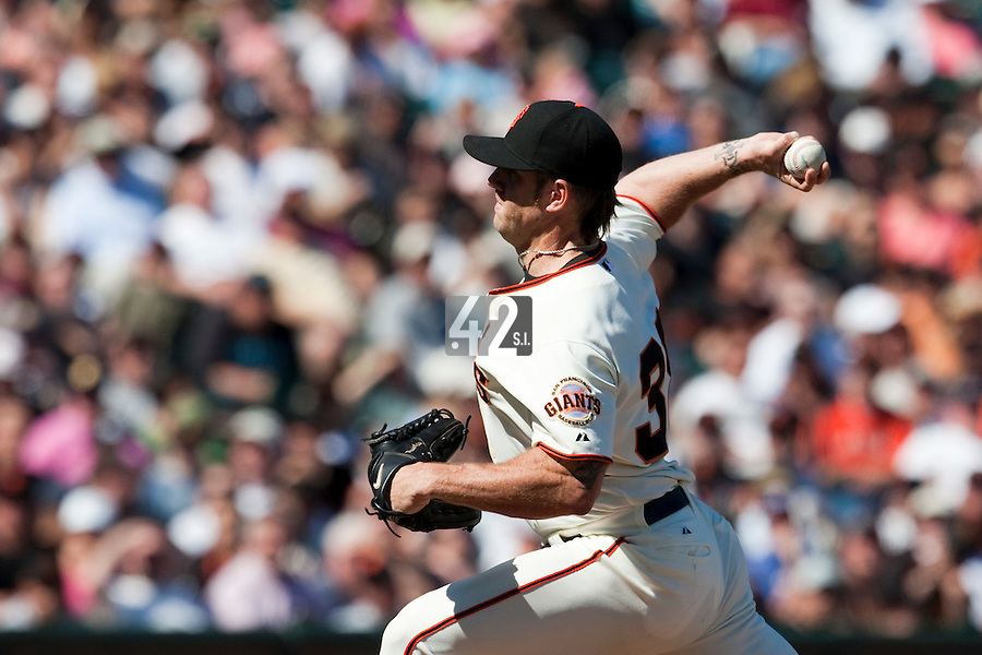 18 April 2009: San Francisco Giants' Brian Wilson pitches against the Arizona Diamondbacks during the San Francisco Giants' 2-0 loss to the Arizona Diamondbacks at AT&T Park in San Francisco, CA.