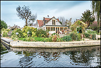 BNPS.co.uk (01202 558833)<br /> Pic: Waterview/BNPS<br /> <br /> Does this idyllic waterside property on a private island in the Thames shiver your timbers??<br /> <br /> Stunning riverside home Osiris is perched on historic Pharoah's island, gifted to Admiral Nelson after his victory at the Battle of the Nile.<br /> <br /> And the &pound;1.125million property will probably only appeal to nautical homebuyers, as it comes with a catch - the new owner can only get to their house by boat.<br /> <br /> Pharoah's Island, sits in the Thames near Shepperton, Surrey, was purchased by a grateful Treasury and given to Admiral Horatio Nelson after the famous Battle in 1798.<br /> <br /> Most of the island's homes have Egyptian names and the four-bedroom Osiris, named after the Egyptian god of the dead, is now up for sale with estate agents Waterview.
