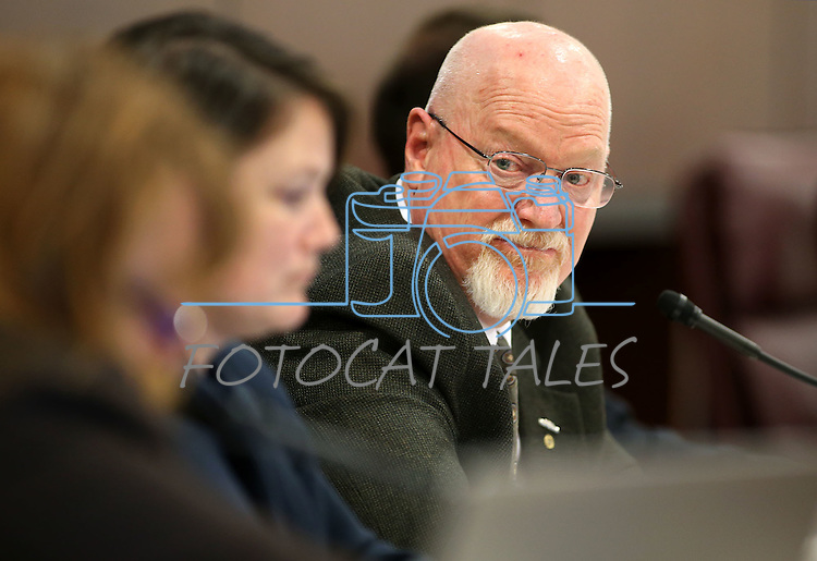 Nevada Assemblyman Randy Kirner, R-Reno, works in committee at the Legislative Building in Carson City, Nev., on Friday, April 24, 2015. <br /> Photo by Cathleen Allison