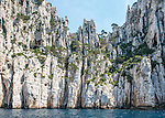 The Calanque du Devenson as viewed from a tourist boat off the Mediterranean coast of France (between Marseille and Cassis).