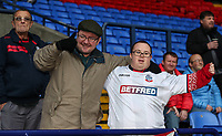 Bolton Wanderers' supporters<br /> <br /> Photographer Andrew Kearns/CameraSport<br /> <br /> The EFL Sky Bet Championship - Bolton Wanderers v Rotherham United - Wednesday 26th December 2018 - University of Bolton Stadium - Bolton<br /> <br /> World Copyright &copy; 2018 CameraSport. All rights reserved. 43 Linden Ave. Countesthorpe. Leicester. England. LE8 5PG - Tel: +44 (0) 116 277 4147 - admin@camerasport.com - www.camerasport.com