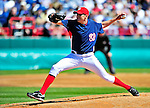 6 March 2010: Washington Nationals' pitcher John Lannan in action during a Spring Training game against the New York Mets at Space Coast Stadium in Viera, Florida. The Mets defeated the Nationals 14-6 in Grapefruit League action. Mandatory Credit: Ed Wolfstein Photo