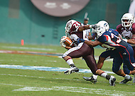 September 1, 2012  (Washington, DC) The Howard University Bison took on the Maroon Tigers of Morehouse at the 2012 AT&T Football Classic. Howard won 29-30 in the last 22 seconds of the game.   (Photo by Don Baxter/Media Images International)