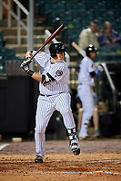Jackson Generals first baseman Kevin Cron (50) at bat during a game against the Chattanooga Lookouts on April 27, 2017 at The Ballpark at Jackson in Jackson, Tennessee.  Chattanooga defeated Jackson 5-4.  (Mike Janes/Four Seam Images)