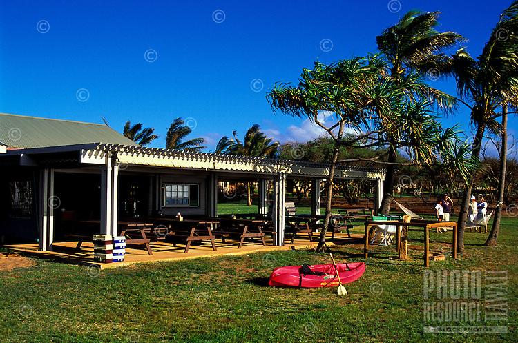 Kaupoa Beach Camp activities pavillion found on Molokai Ranch