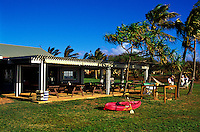 Kaupoa Beach Camp activities pavillion found on Molokai Ranch