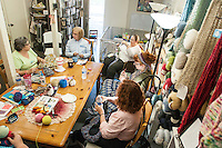 STAFF PHOTO ANTHONY REYES &bull; @NWATONYR<br /> A crocheting and knitting class Thursday, Sept. 18, 2014 at Mockingbird Moon in Rogers.