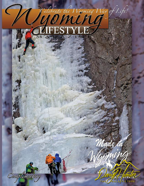 Cover Wyoming Lifestyle Magazine, ice climbers.