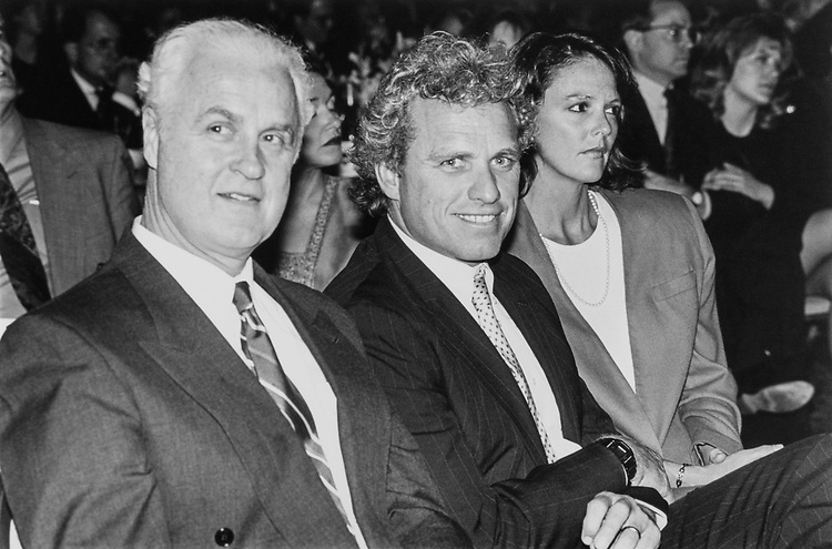At the 31st Annual Democratic Congress Dinner, former Rep. Jim Moody, D-Wis., Rep. Joseph P. Kennedy II, D-Mass. and wife Anne Elizabeth Kelly sit together on April 26, 1994. (Photo by Laura Patterson/CQ Roll Call)