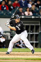 August 7, 2009: Left Fielder Carlos Quentin (20) of the Chicago White Sox at bat during a game vs. the Cleveland Indians at U.S. Cellular Field in Chicago, IL.  The Indians defeated the White Sox 6-2.  Photo By Mike Janes/Four Seam Images