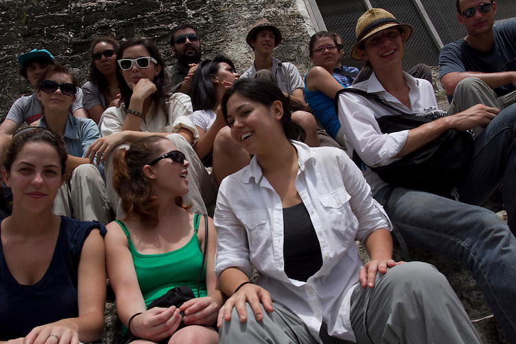 Program for Belize, La Milpa Mayan ruins, Santa Monica College Archeology students, University of Texas Archeology, University of Massachusetts Archeology, Philadelphia Community College Archeology, Rio Hondo Archeology, Lamanai, Guatemalan Ruins, Tikal,  Belize June July, 2010...Photo/Gerard Burkhart.818-207-0273..