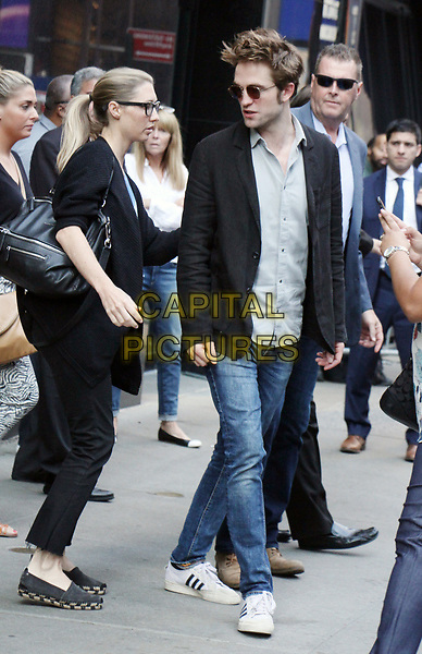NEW YORK, NY - AUGUST 10: Robert Pattinson seen at Good Morning America in New York City on August 10, 2017. <br /> CAP/MPI/RW<br /> &copy;RW/MPI/Capital Pictures