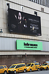 Barbra Streisand Theatre Marquee for her August 3, 2019 Concert at Madison Square Garden, Barbra back in her Garden the first time in 13 years!, in Times Square, NYC. on August 1, 2019 in New York City.