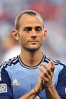 Sporting Park, Kansas City, Kansas, July 31 2013:<br /> Brad Davis (11) midfield MLS All-Stars <br /> MLS All-Stars were defeated 3-1 by AS Roma at Sporting Park, Kansas City, KS in the 2013 AT & T All-Star game.