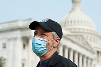 Comedian Jon Stewart, talks with reporters prior to a press conference regarding legislation to assist veterans exposed to burn pits, outside the US Capitol in Washington, DC., Tuesday, September 15, 2020.<br /> Credit: Rod Lamkey / CNP /MediaPunch