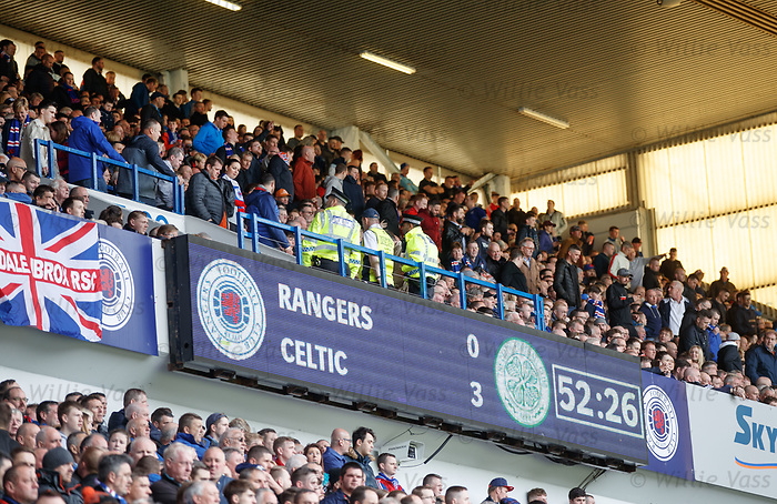 Rangers fans get up and head for the exits after 52 minutes