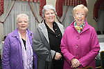 Noeline Bell, Gay Woods and Joan McEvoy at the Charity Event in the Boyne Valley Hotel to raise money for Drogheda Womens Refuge, Drogheda Special Needs and ABACAS...(Photo credit should read Jenny Matthews/www.newsfile.ie)....This Picture has been sent you under the conditions enclosed by:.Newsfile Ltd..The Studio,.Millmount Abbey,.Drogheda,.Co Meath..Ireland..Tel: +353(0)41-9871240.Fax: +353(0)41-9871260.GSM: +353(0)86-2500958.email: pictures@newsfile.ie.www.newsfile.ie.