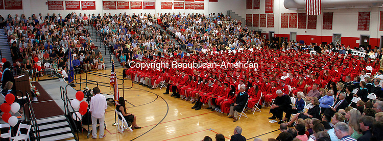 Southbury, CT-062113MK32 Pomperaug High School class of 2013 commencement exercises on Friday evening at Pomperaug High School in Southbury. Michael Kabelka / Republican-American.
