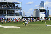 Patrick Reed (USA) during the third round of the Northern Trust played at Liberty National Golf Club, Jersey City, USA. 10/08/2019<br /> Picture: Golffile | Michael Cohen<br /> <br /> All photo usage must carry mandatory copyright credit (© Golffile | Michael Cohen)