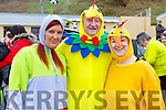 Marie Twomey, Richie Roche and Chrisie O'Donnell from Abbeyfeale all dressed up for the annual Connie Hartnett Memorial swim in Ballybunion on New Years Day.