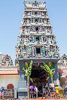 Sri Mariamman Hindu Temple Goruram (Entrance Tower), Singapore.