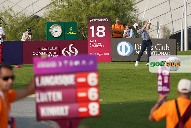 Marcus Kinhult (SWE) during the third round of the Commercial Bank Qatar Masters 2020, Education City Golf Club , Doha, Qatar. 07/03/2020<br /> Picture: Golffile   Phil Inglis<br /> <br /> <br /> All photo usage must carry mandatory copyright credit (© Golffile   Phil Inglis)