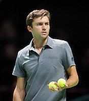 Februari 12, 2015, Netherlands, Rotterdam, Ahoy, ABN AMRO World Tennis Tournament, Gilles Simon (FRA)<br /> Photo: Tennisimages/Henk Koster
