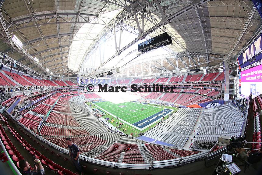 Innenraum vor dem Spiel - Super Bowl XLIX, Seattle Seahawks vs. New England Patriots, University of Phoenix Stadium, Phoenix