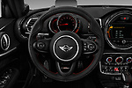 Car pictures of steering wheel view of a 2017 Mini Clubman John Cooper Works 5 Door Wagon