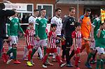 09.03.2019, Platz 11, Bremen, GER,RL Nord, Werder Bremen II vs VfB Oldenburg, im Bild<br /> Einlauf der Mannschaften<br /> <br /> Foto &copy; nordphoto / Rojahn