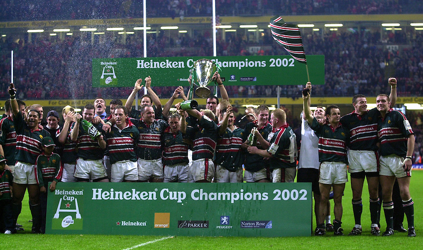 Leicester Tigers v Munster. Heineken Cup Final at the Millennium Stadium. 25/05/2004..Leicester celebrate victory.