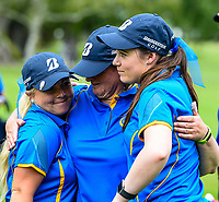 Otago celebrates beating Aorangi, Toro New Zealand Womens Interprovincial Tournament, Waitikiri Golf Club, Christchurch, New Zealand, 4th December 2018. Photo:John Davidson/www.bwmedia.co.nz