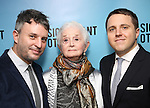 """Trip Cullman, Barbara Barrie and Joshua Harmon attend the Broadway Opening Night performance after party for """"Significant Other"""" at the Redeye Grill on March 2, 2017 in New York City."""