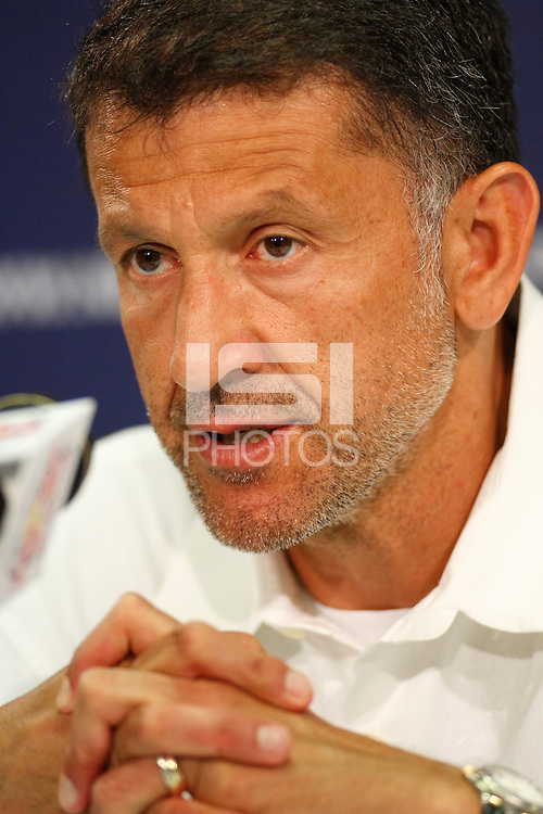 New York Red Bulls head coach Juan Carlos Osorio during a New York Red Bulls press conference at Giants Stadium in East Rutherford, NJ, on July 18, 2008.