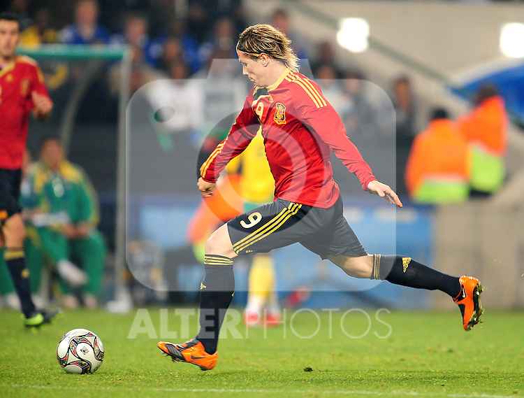 Torres  during the soccer match of the 2009 Confederations Cup between Spain and South Africa played at the Freestate Stadium,Bloemfontein,South Africa on 20 June 2009.  Photo: Gerhard Steenkamp/Superimage Media.
