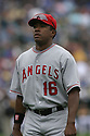Garret Anderson, of the Los Angeles Angels , during their game against the Oakland A's  on April 23, 2006 in Oakland...A's win 4-3..Rob Holt / SportPics